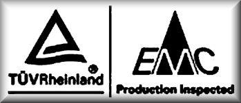 TÜV Zeichen für die Elektromagnetische Verträglichkeit (EMV)