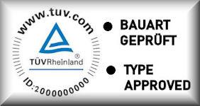 TÜV Rheinland Bauart geprüft