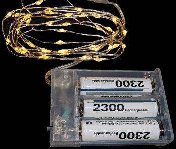 Batterie-lichterkette mit Akkus