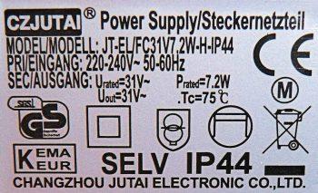 Klasse II Label Transformator