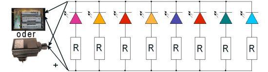 Lichterkette Parallelschaltung (Drahtlichterkette)