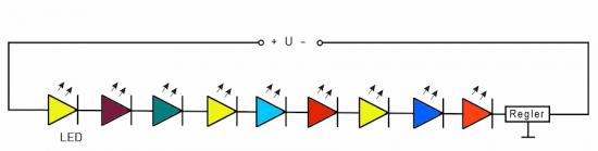 9er LED-Lichterkette (Reihenschaltung)