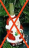 Weihnachtsmann mit Glaslampe