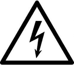 Warnung Stromschlag